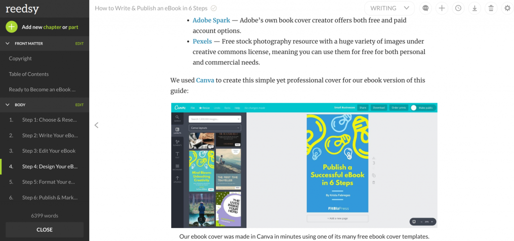 Use Reedsy to create a Kindle Format ebook