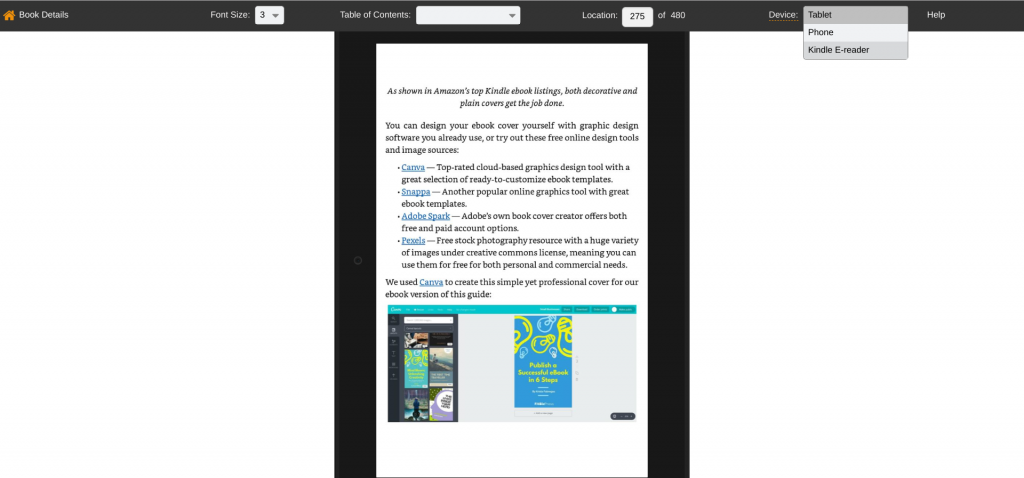 Reedsy ePub files convert to Kindle format in Amazon KDP