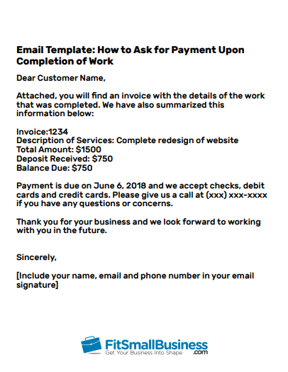 How to ask for payment in an email 3 professional email templates payment reminder flashek Gallery