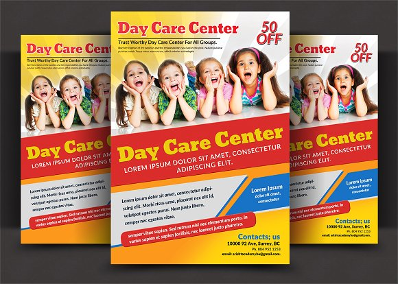Professional Daycare Center Flyer Templates - daycare flyers