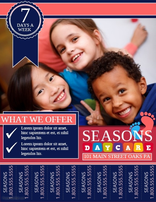 Seasons Daycare Flyer Template - daycare flyers