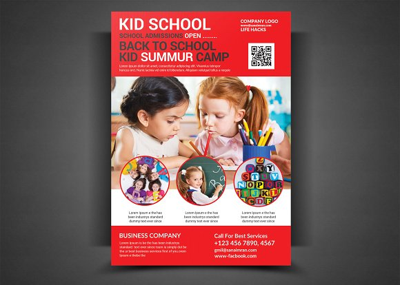 Kid School Flyer Template - daycare flyers