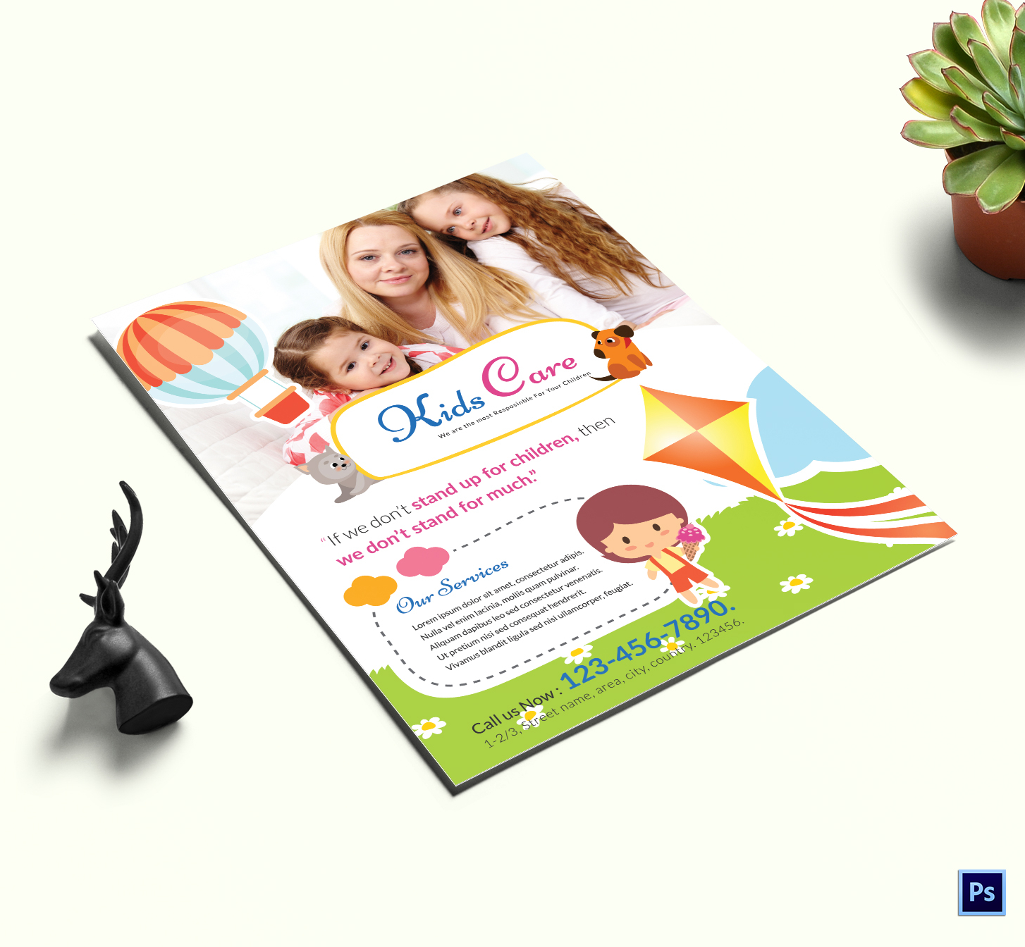 Kids Care Center Flyer Template - daycare flyers