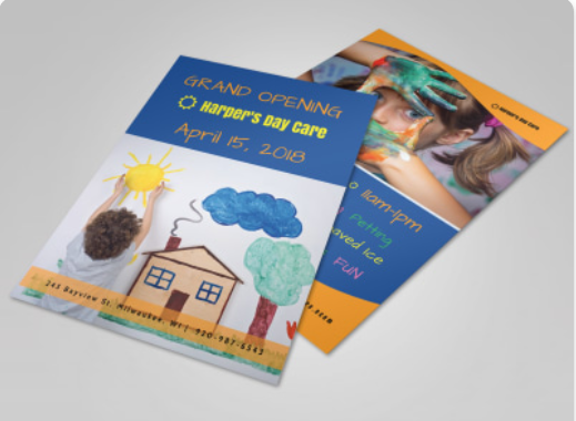 Harper's Daycare Flyer Template - daycare flyers