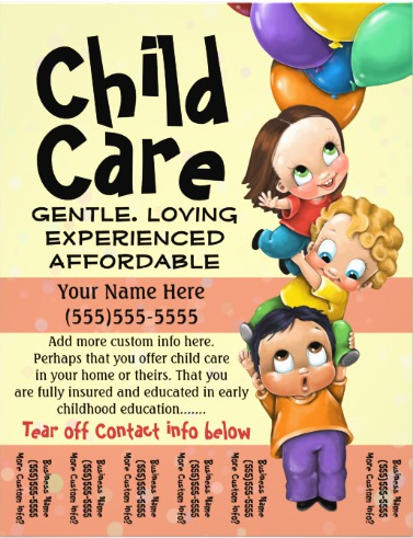 25 Beautiful Free & Paid Templates for Daycare Flyers