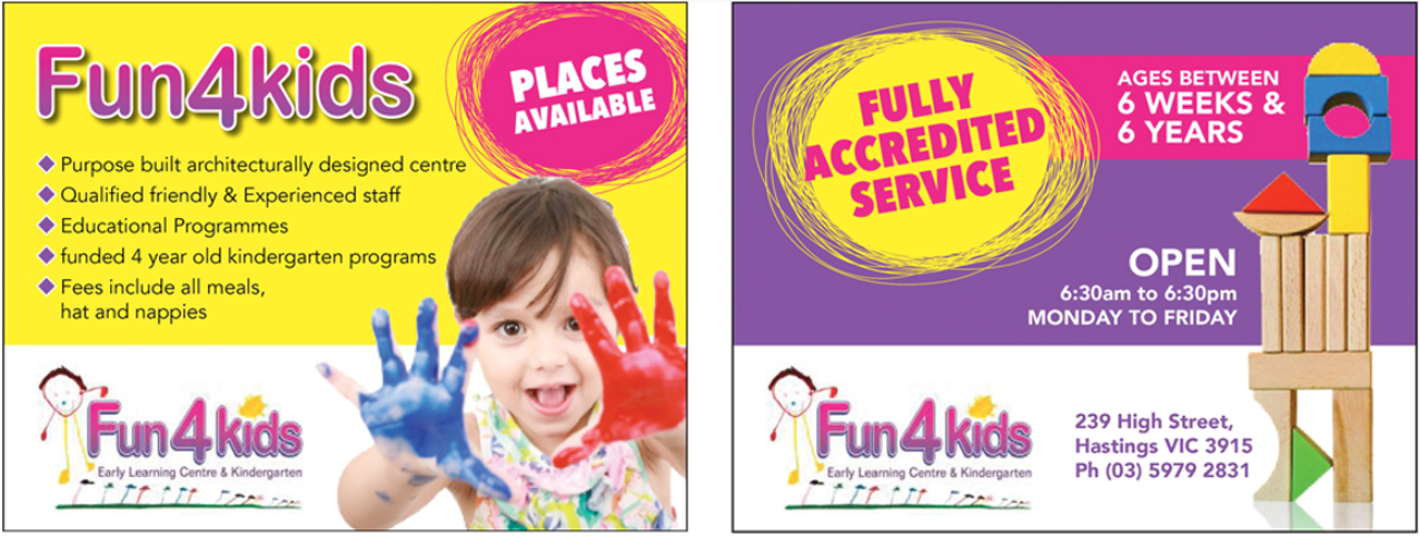 Fun 4 Kids Kindergarten Flyer Template - daycare flyers