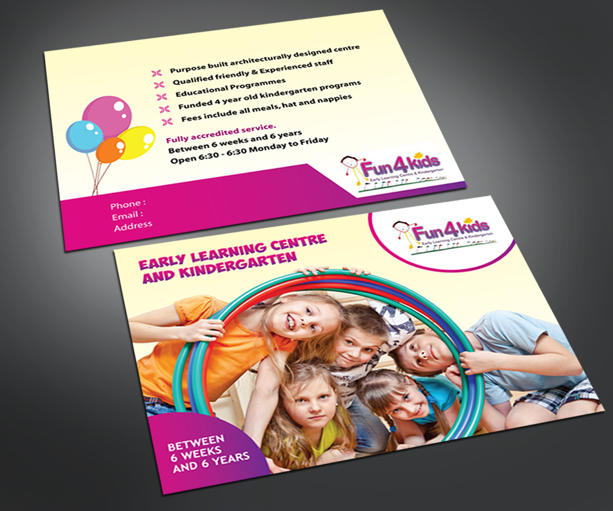 Fun 4 Kids Education Flyer Design Template - daycare flyers