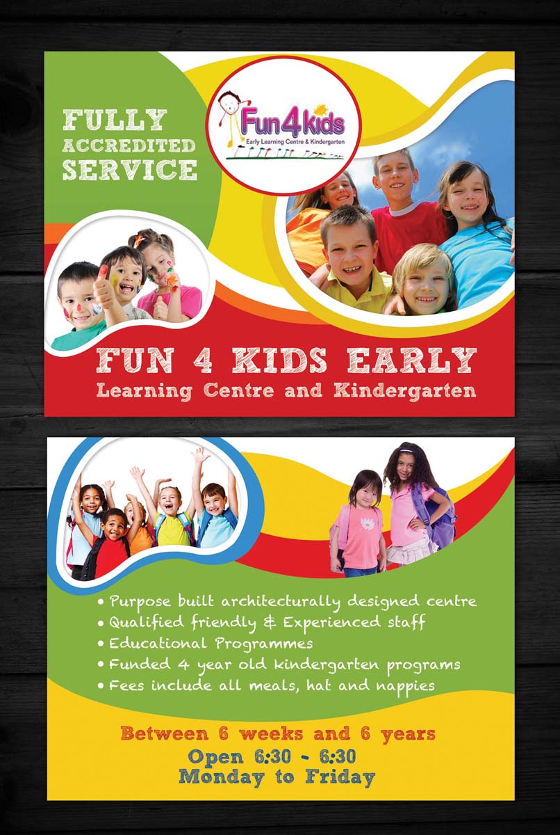 Fun 4 Kids Early Learning Center Flyer Template - daycare flyers