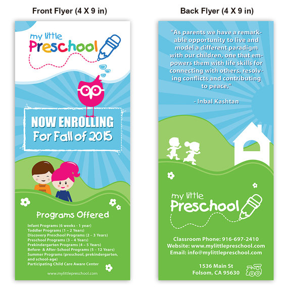 Preschool Template Flyer - daycare flyers