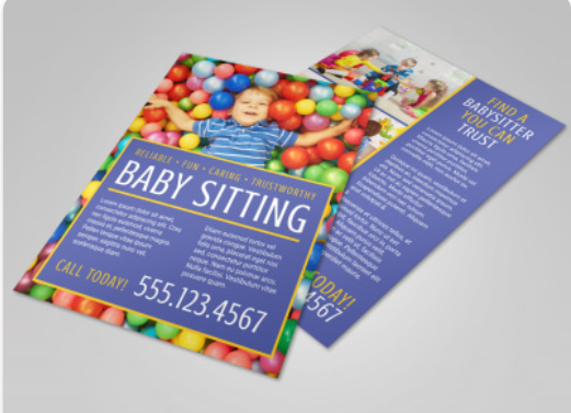 Baby Sitting Flyer Template - daycare flyers