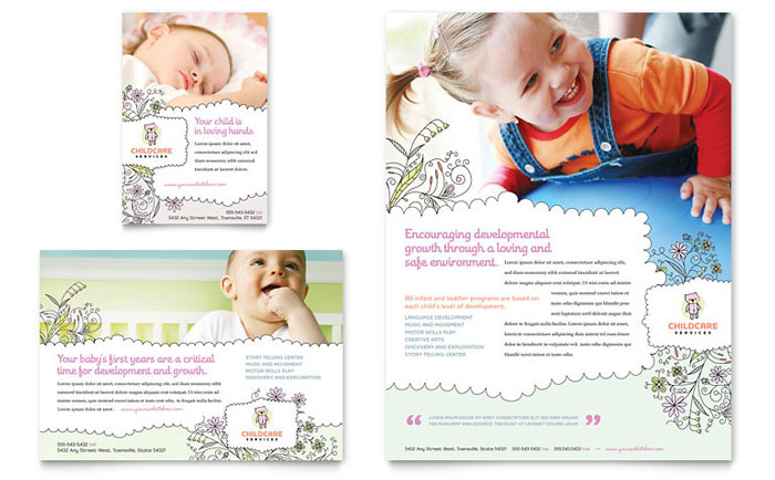 Babysitting and Daycare Flyer Template - daycare flyers