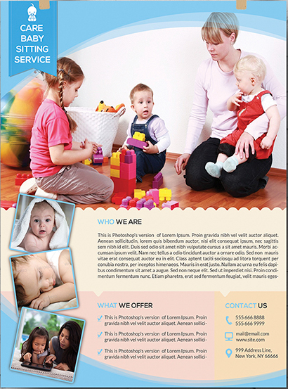 Care Babysitting Flyer Template - daycare flyers