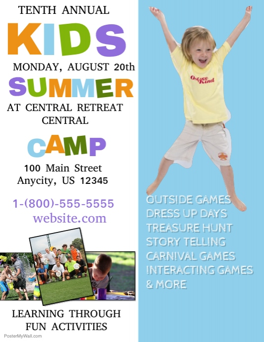 Kids Summer Camp Multi Purpose Flyer Template - daycare flyers