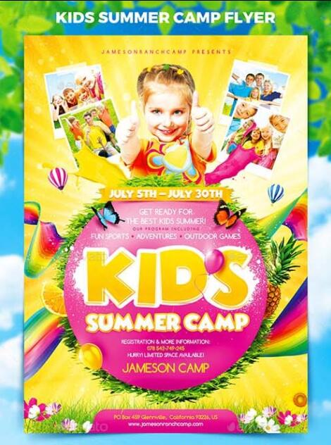 Jameson Kids Summer Flyer Template - daycare flyers