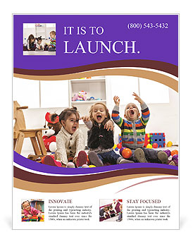 Professional Child Care Flyer Template - daycare flyers