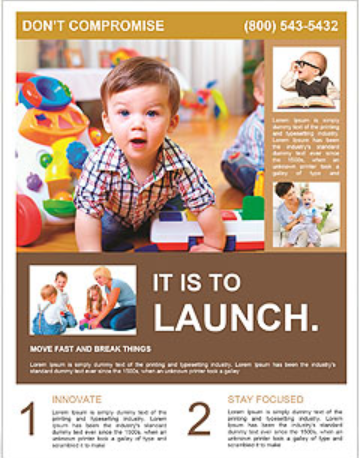 Child's Playroom Flyer Template - daycare flyers