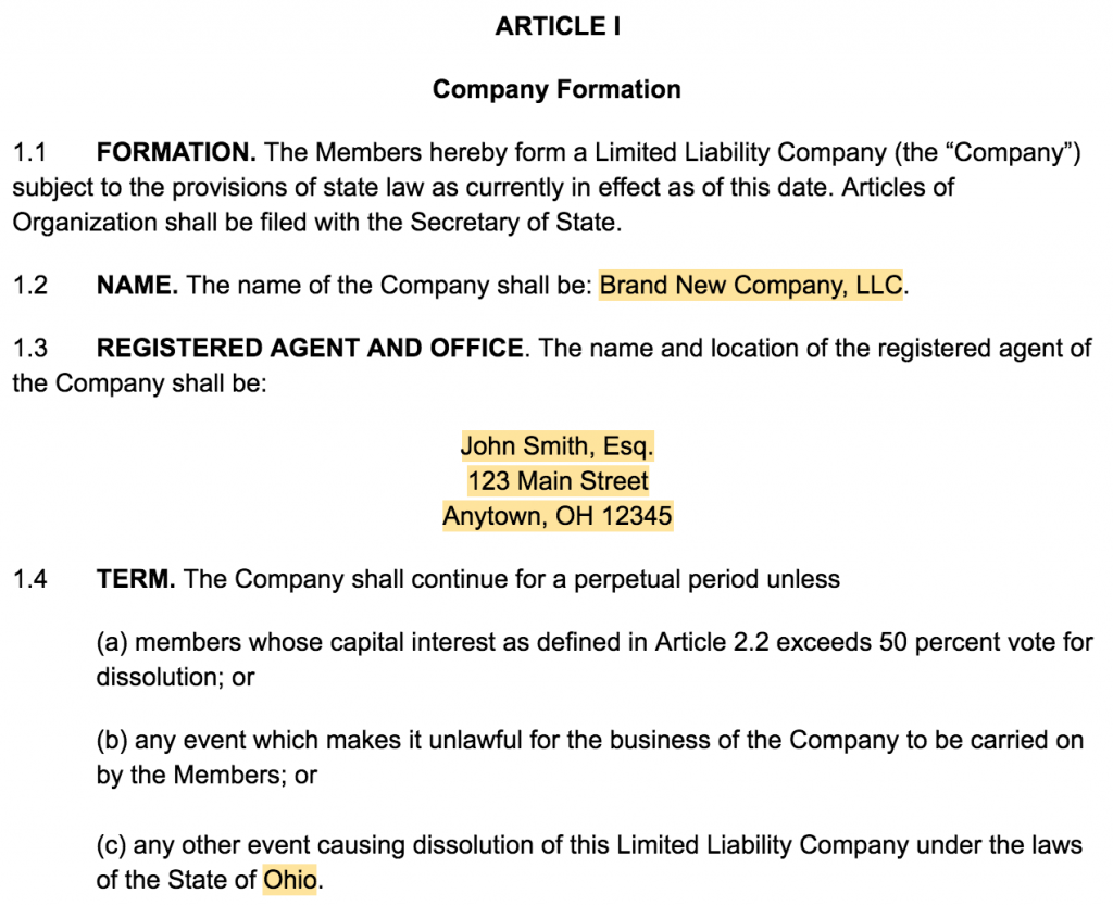 how to create an llc operating agreement [+ free templates]