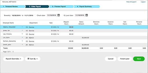 adp vs. paychex screenshot