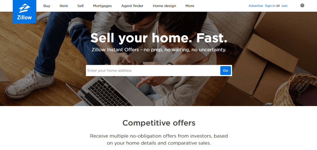 zillow premier agent - instant offers screenshot