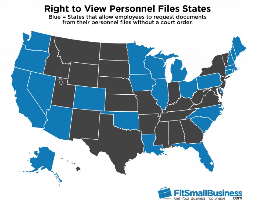 Right to View Personnel Files States infographic