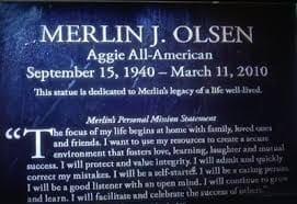 Screenshot of Merlin J Olson Mission Statement