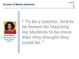 Screenshot of Mission Statement Example by Oprah Winfrey