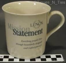 Screenshot of Mission Statement on a Coffee Mug