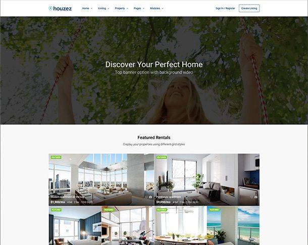 IDX Real Estate Websites -houzez