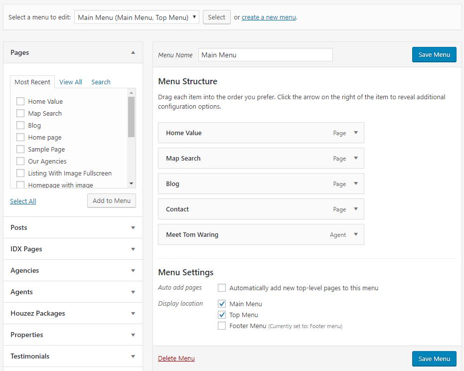 IDX Real Estate Websites -screenshot - pages