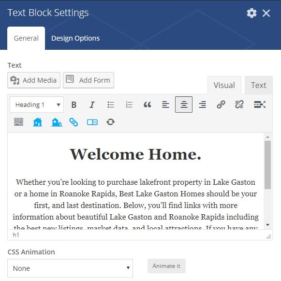 IDX Real Estate Websites -screenshot - text block