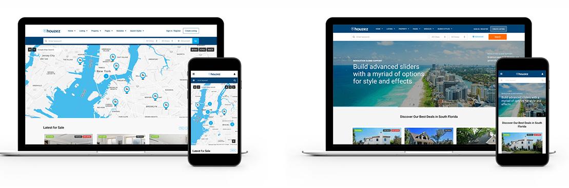 IDX Real Estate Websites - theme laptops screenshot
