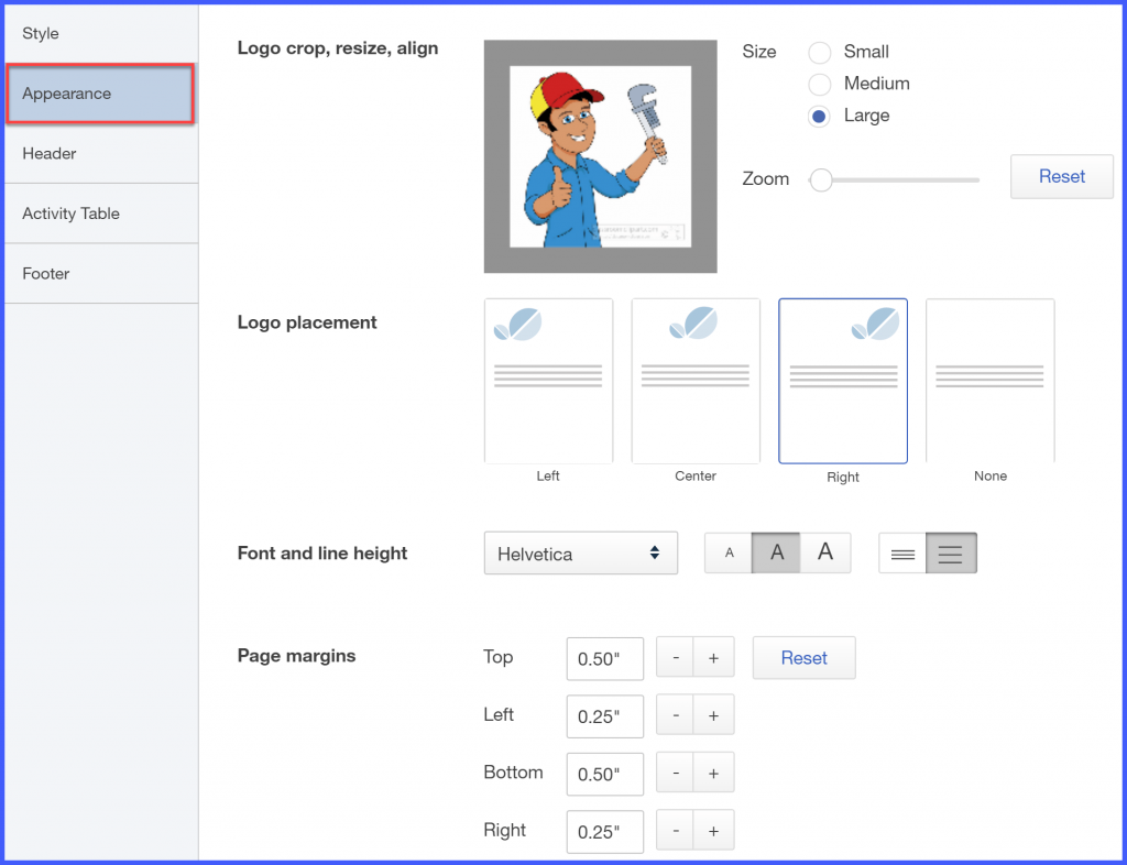 customize invoice quickbooks online