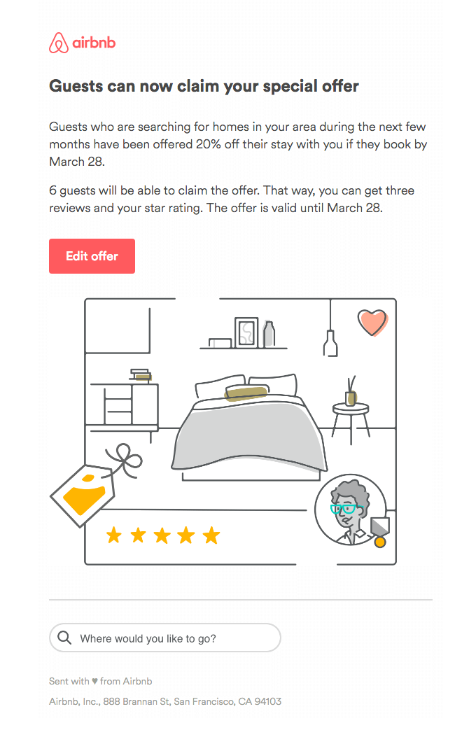Airbnb - email newsletter templates - Tips from the pros