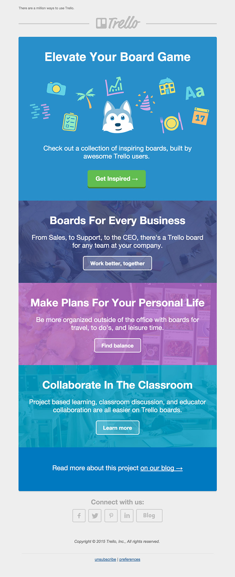Trello - email newsletter templates - Tips from the pros