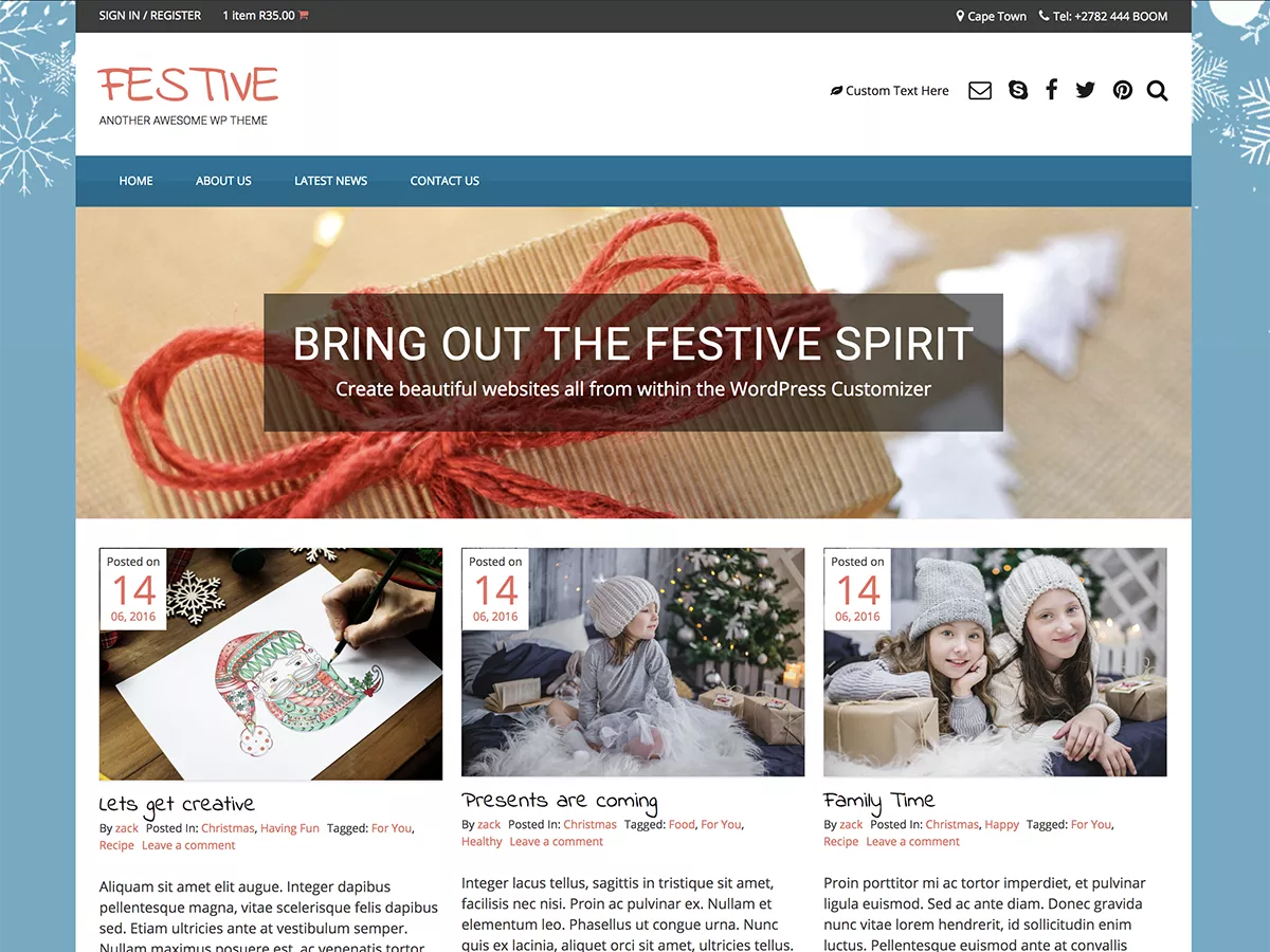 Festive - woocommerce themes