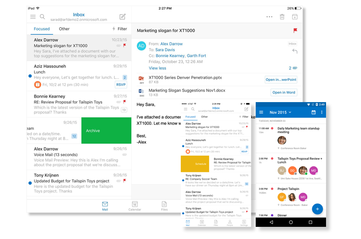 Microsoft Exchange - email providers