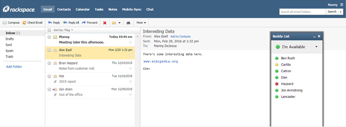 Rackspace - email providers