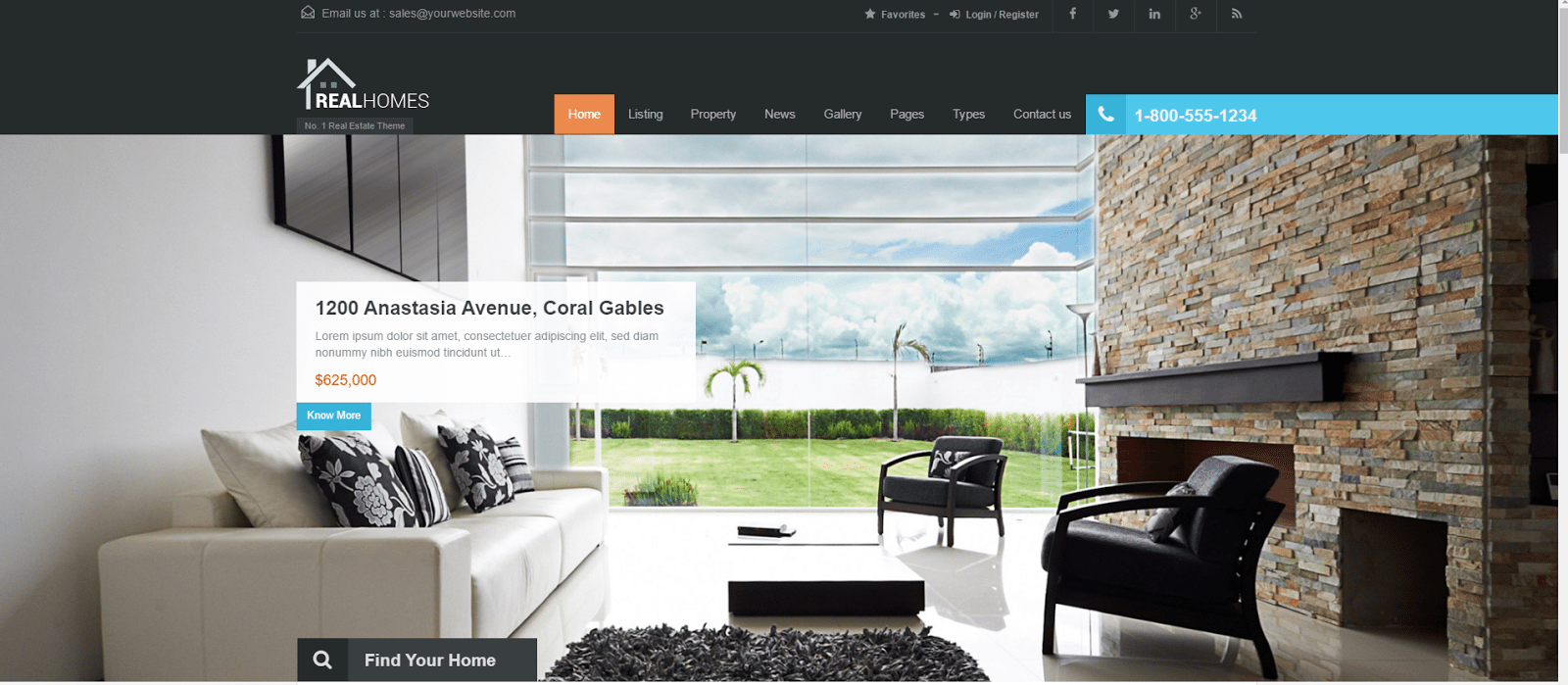 Real Homes - real estate website templates