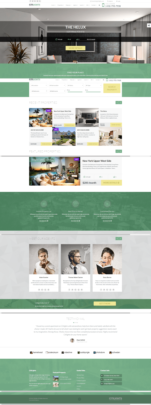 CitiLights - real estate website templates