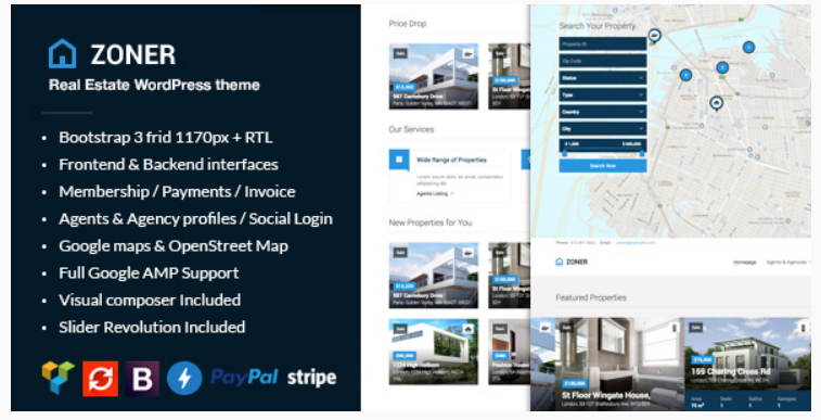 Zoner - real estate website templates