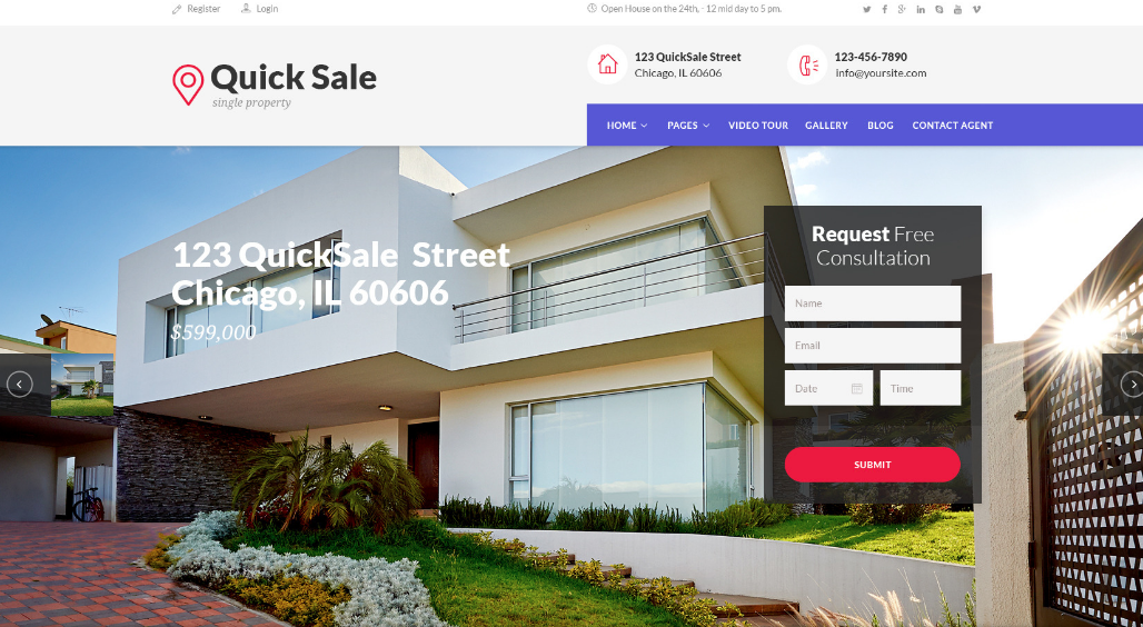 Quick Sale - real estate website templates