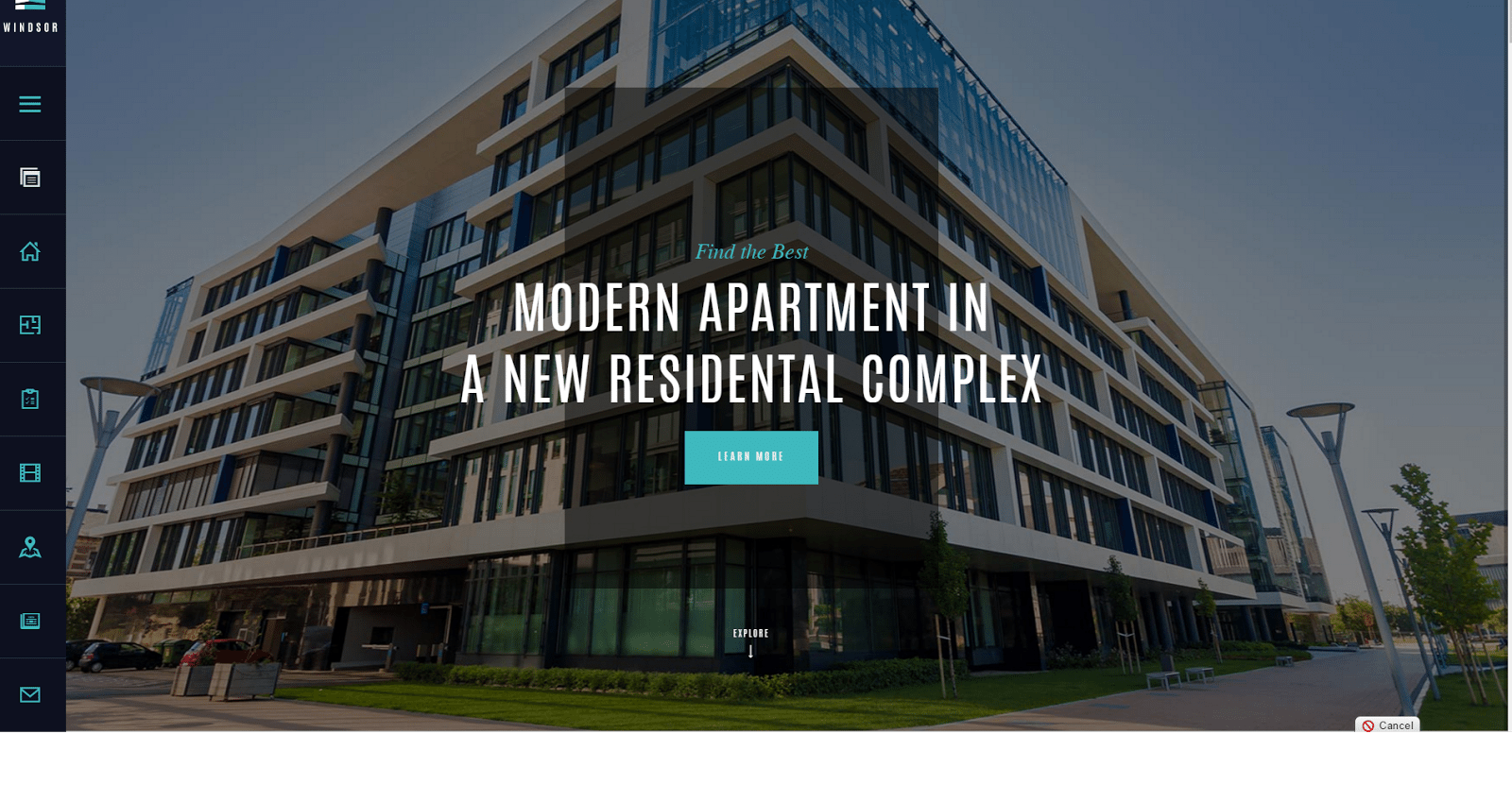 Windsor Apartments - real estate website templates