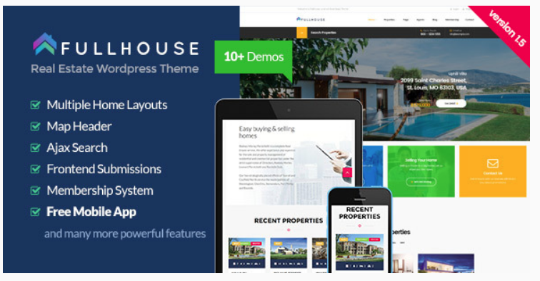 Full House - real estate website templates