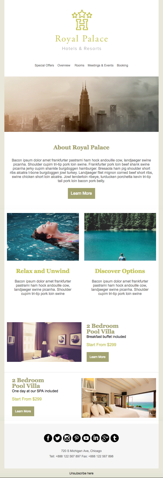Hotel - email newsletter templates - Tips from the pros
