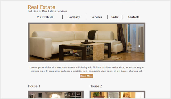 Real Estate - email newsletter templates - Tips from the pros