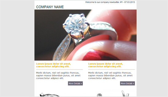 Top 20 creative email newsletter templates examples jewelry business email newsletter templates tips from the pros cheaphphosting Image collections