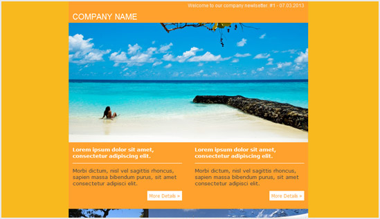 Travel Agency - email newsletter templates - Tips from the pros