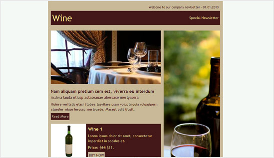 Winery or Restaurant - email newsletter templates - Tips from the pros