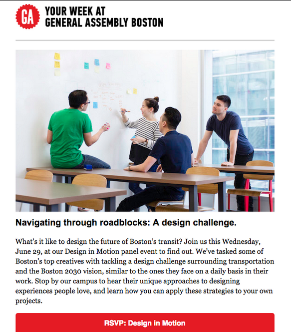General Assembly - email newsletter templates - Tips from the pros