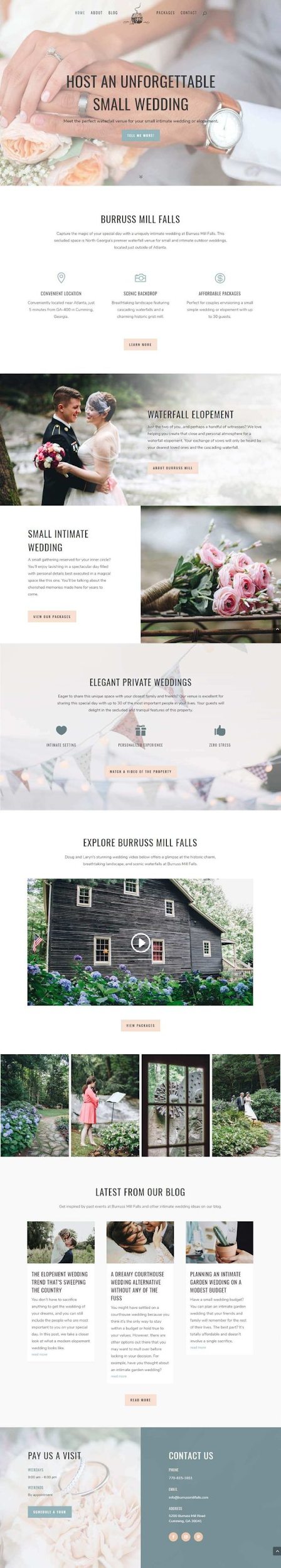 Joan Aldrich Web Design via Junction Creative Studio - pinterest ad examples - Tips from the pros